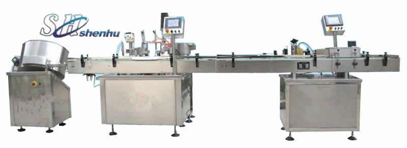 GX-10 e-liquid/eye drop filling line